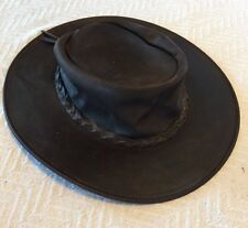 100% Leather Minnetonka Fold Up Hat SIGNED By Trick Pony Entire Band!!!