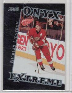 1999 - 00 stadium club onyx extreme #OE7 nicklas lidstrom
