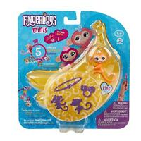 WowWee Fingerlings Minis-Series 1-5 Piece Banana Blister 3 Figures (random packs