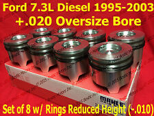 Ford 7.3 7.3L Diesel Pistons +.020 Over set w/ Rings 95-03 MAHLE Clevite set / 8