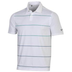 New Under Armour Performance Target Stripe Golf Polo Polyester Heatgear Fabric