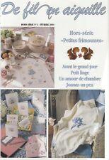 De fil en aiguille N°1 HS point croix Petites frimousses Bestseller V. Enginger