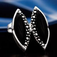 Onyx Silber 925 Ohrringe Damen Schmuck Sterlingsilber S0516