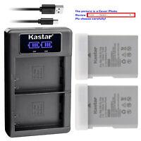 Kastar Battery LCD Dual USB Charger for Nikon EN-EL14a MH-24 Nikon Coolpix P7800