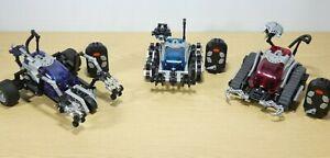 3 x Lego Mindstorm Spybotics  Shadowstrike Technojaw Snaptrax 2002