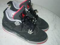 """2012 Nike Air Jordan Retro 4 """"Bred 2012 Release"""" Youth Shoes Size 6Y Sold As Is!"""