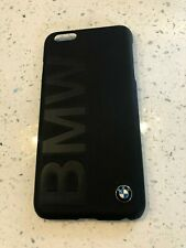 BMW Leather Signature Hard Shell Case for iPhone 6 Plus and 6S Plus Black New