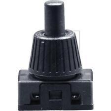 Druck-Einbau-Schalter Schalter Ausschalter 1-polig schwarz 230V/2A