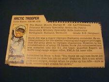Snow Job Gray Back  File Card  GI Joe 1983