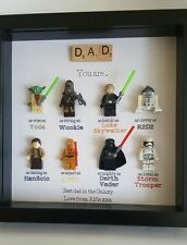 personalised box picture frame star wars lego fathers day dad grandad uncle