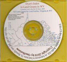 West Virginia Land Grants (Dyer's Index) -Va Genealogy