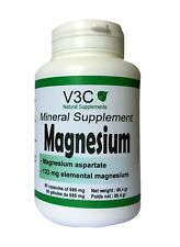 MAGNESIUM 133 mg - ANTI FATIGUE ET STRESS - V3C NUTRITION USA 85 GELULES