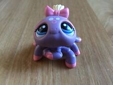 Littlest Pet Shop purple pink spider # 1619 blue eyes pink bow from Blythe toy