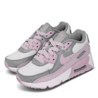 Nike Air Max 90 PS Grey Pink White Preschool Girls Shoes Sneakers CD6867-002