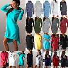 Women Hooded Sweatshirt Hoodies Dress Long Sleeve Pullover Jumper Sweater Tops