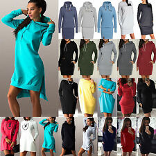 Women Hooded Sweatshirt Hoodies Dress Long Sleeve Pullover Jumper Sweater Tops