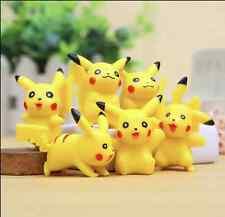 6Pcs/Lot PVC Pokemon PIKACHU Action Figure Toy Collector's kids gift