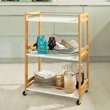 SoBuy® Desserte de cuisine/service,Chariot de cuisine,salle de bains FKW32-WN FR