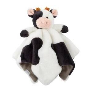 "Mud Pie Cow Plush Woobie 11.5"""