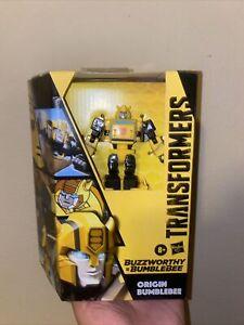 NEW Transformers BUZZWORTHY ORIGIN BUMBLEBEE Cybertronian Deluxe Generations