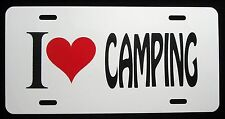 I LOVE CAMPING  License Plate - New, Novelty, Fun