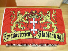 Fahnen Flagge Danzig Senat der freien Stadt Digitaldruck - 90 x 150 cm