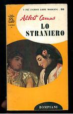 CAMUS ALBERT LO STRANIERO BOMPIANI 1955 II° EDIZ. I DELFINI 55