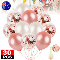 30X Balloons Party Decorations Confetti Wedding Birthday Marriage Gift Rose Gold