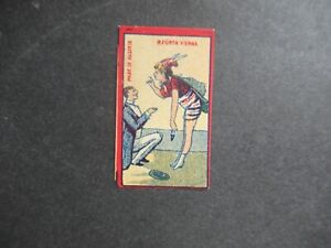 OLD AUSTRIAN MINIATURE MATCHBOX LABEL.DESIGN 3.