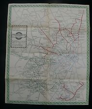 """1921 London Tramways Map by MacDonald Gill """"How to Travel Around London"""""""