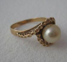 Vintage 14k Yellow Gold Pearl Ring 3 grams