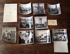 RARE Vtg Lot 1962 Detroit Tigers Tour Japan Baseball Photograph Lot & Itinerary