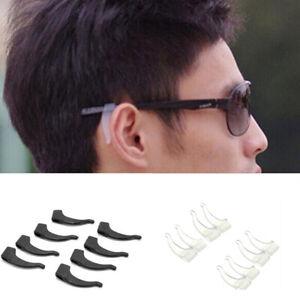 8PCS Silicone Anti-Slip Glasses Ear Hooks Tip Eyeglasses Grip Temple Holder