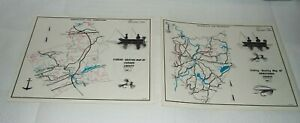 2 1970 PENNA. FISH COMMISSION FISHING-BOATING MAPS OF ARMSTRONG & CARBON COUNTY