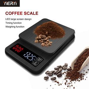 Coffee Bean Scale Kitchen Drip Timer Digital LCD Electronic High Precision AU
