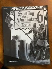 Abeka Spelling & Vocabulary 6 Test Key