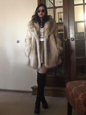 Rare New Shadow Fox Fur Jacket Coat
