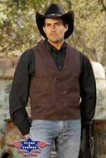 Old Style Weste BRADLEY brown Gr. M  NEU   Western Cowboy Kleidung