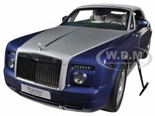 ROLLS ROYCE PHANTOM DROPHEAD COUPE BLUE 1/18 DIECAST CAR MODEL KYOSHO 08871