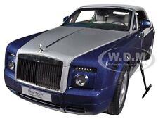 ROLLS ROYCE PHANTOM DROPHEAD COUPE BLUE 1/18 DIECAST CAR MODEL KYOSHO 08871