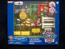 Paw Patrol Pull Back Pup gift set Marshall, Rubble, & Rocky figures NEW SEALED
