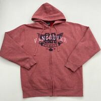 Salt Creek Hoodie Mens M Coral Pink Full Zip Insulated Vancouver Canada Graphics