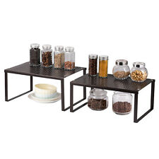 Kitchen Bathroom and Counter Shelf Organizer Stackable & Expandable Storage Rack
