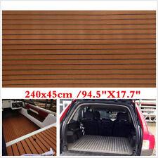 """94.5""""X17.7"""" Car Trunk Boat Floor Carpet Foam Non-skid EVA Foam Faux Teak Sheets"""