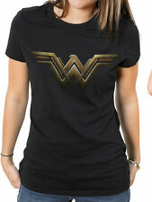 Wonder Woman Movie Womens Ladies Fitted T-Shirt Top Logo XL UK 14-16