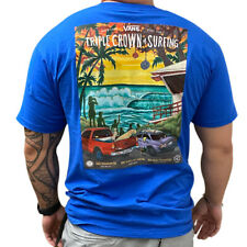 VANS OFTW Mens Short Sleeve Blue Triple Crown of Surfing Poster T-Shirt L/XL/XXL