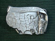 Vintage 1986 Us of America Commemorative Belt Buckle