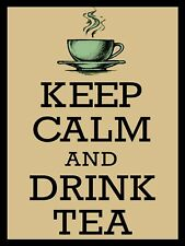 Keep Calm And Drink Tea, Retro metal Sign/Plaque Wall vintage / Gift