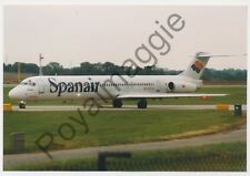 Colour print of Spanair MD83 EC-FTS at Manchester in 1999