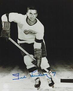 Ted Lindsay Autographed Signed 8x10 Photo - Red Wings Hall Of Famer NHL - w/COA